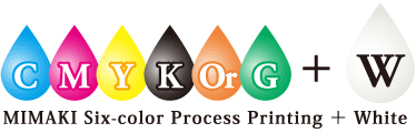 MIMAKI Six-color Process Printing + White