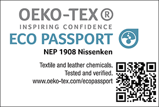 [ECO PASSPORT] Certification label No. NEP 1908