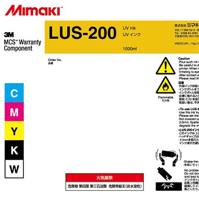 LUS20-W-BA LUS-200 UV curable ink 1L bottle White
