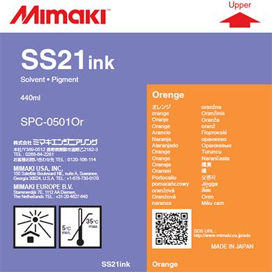 SPC-0501OR SS21 Solvent ink cartridge Orange