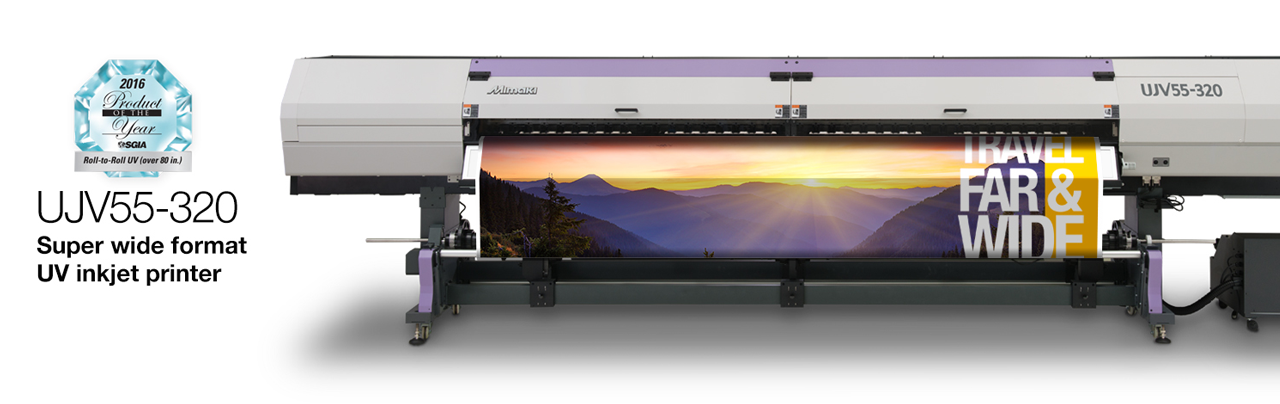 Mimaki UJV55-320 super wide format UV inkjet printer