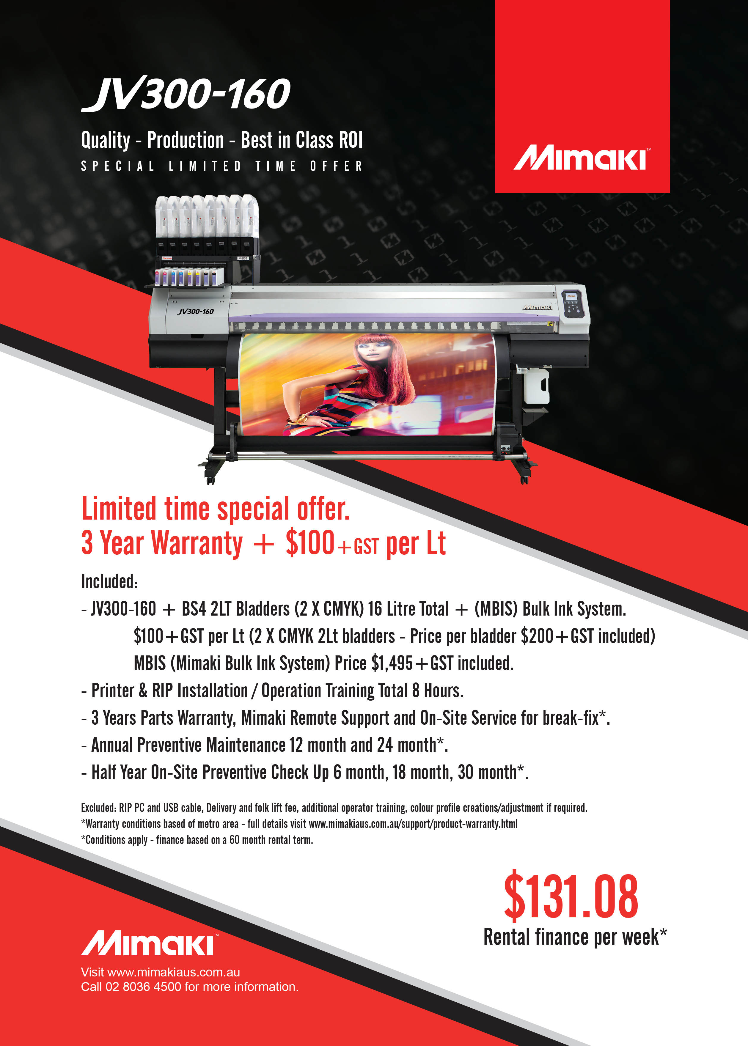 JV300-160 Limited Time Special Offer   Promotions   News