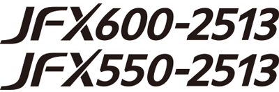 "Logo of ""JFX600-2513"" and ""JFX550-2513"""