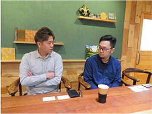 Mr. Yoshitaka Fujita, Director of the Print Division and Daisuke Yoshikawa, an operator