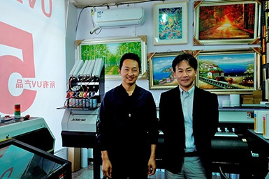Beijing Yunjie Zhicheng Trading Co., Ltd.: Manager Liu (Left)